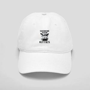 SHOW ME YOUR KITTIES FUNNY CAT HEAD TEE Cap