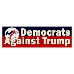 Democrats Against Trump Bumper Bumper Sticker