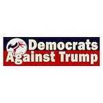 Democrats Against Trump Bumper Sticker