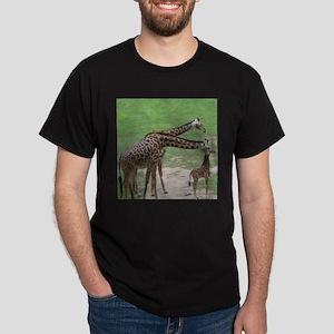 Giraffe Family Ash Grey T-Shirt