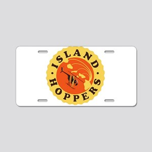 Island Hoppers Aluminum License Plate