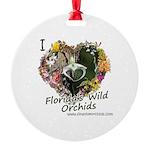 I Heart Florida Wild Orchids Round Ornament