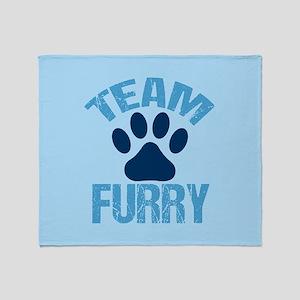 Team Furry Throw Blanket