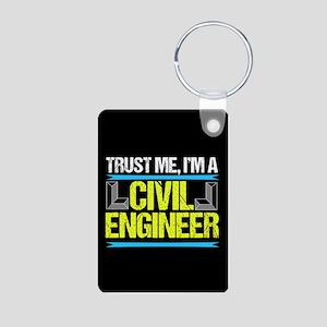 Civil Engineer Aluminum Photo Keychain