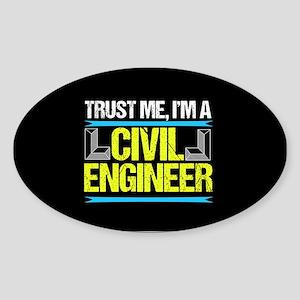 Civil Engineer Sticker (Oval)