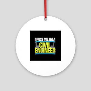 Civil Engineer Round Ornament