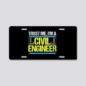 Civil Engineer Aluminum License Plate