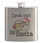 I Put Out for Santa Flask