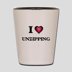 I love Unzipping Shot Glass