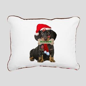 Dachshund Christmas Rectangular Canvas Pillow