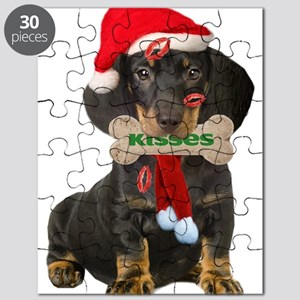Dachshund Christmas Kisses Apparel And Puzzle