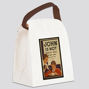 Really Dull John vintage Canvas Lunch Bag