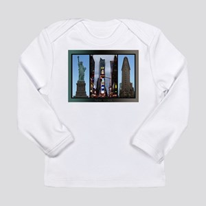 New York Postcards NYC Landmar Long Sleeve T-Shirt