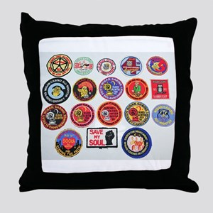 NORTHERN SOUL PATCHES Throw Pillow
