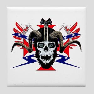 Ram skull rider Tile Coaster
