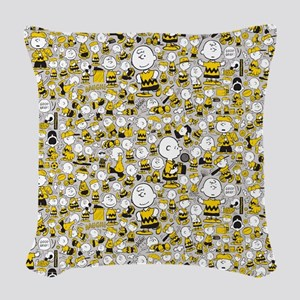 Peanuts Charlie Brown Collage Woven Throw Pillow