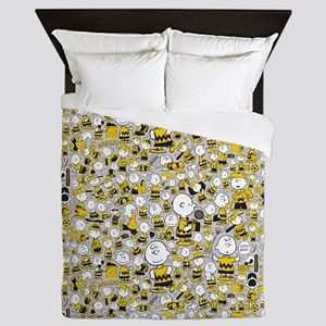 Peanuts Charlie Brown Collage Queen Duvet