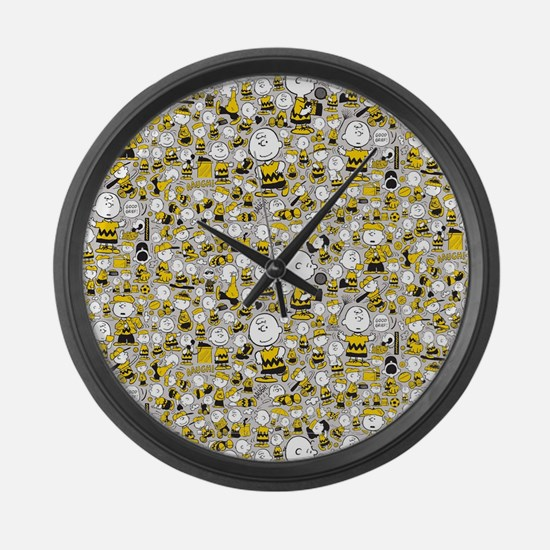 Peanuts Charlie Brown Collage Large Wall Clock