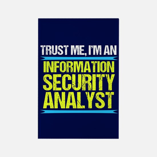 Security Analyst Rectangle Magnet