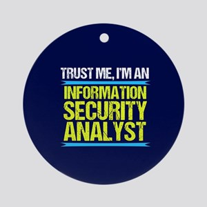 Security Analyst Round Ornament
