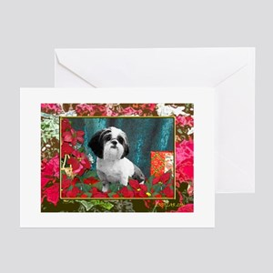 Shih Tzu Christmas China D Greeting Cards (Package