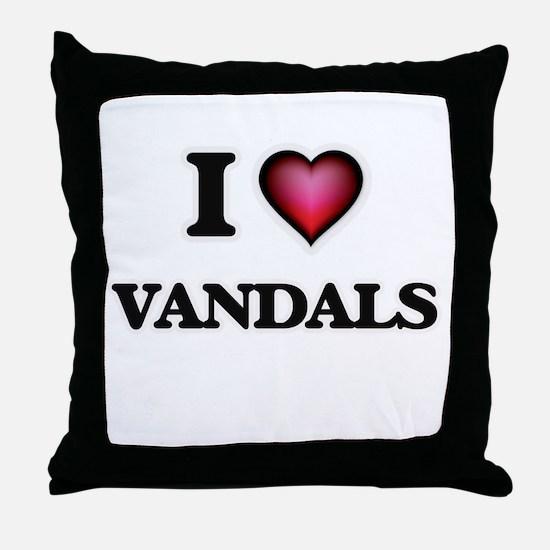 I love Vandals Throw Pillow