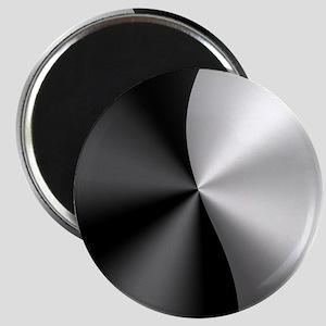 Black & Silver Modern Geometric Design Magnets