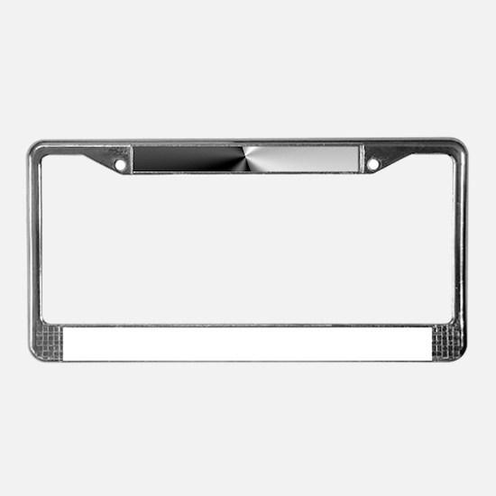 Black & Silver Modern Geom License Plate Frame