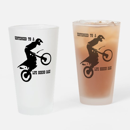 Life spent behind bars Drinking Glass