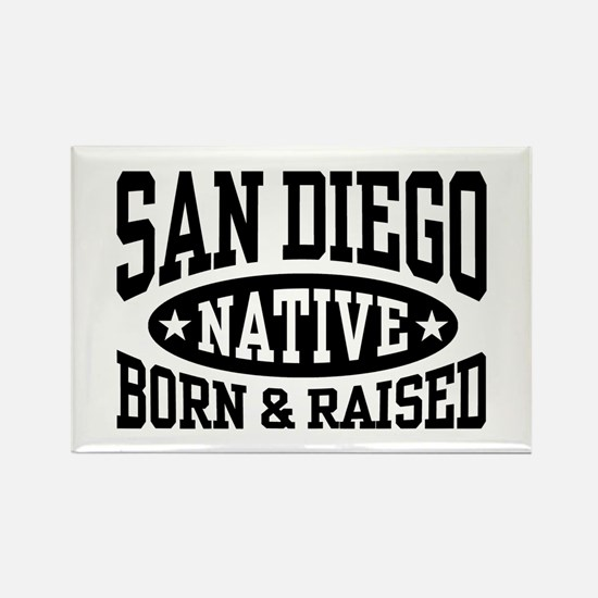 San Diego Native Rectangle Magnet