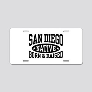 San Diego Native Aluminum License Plate