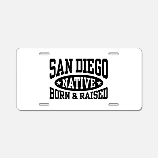 San Diego Native Aluminum License Plate