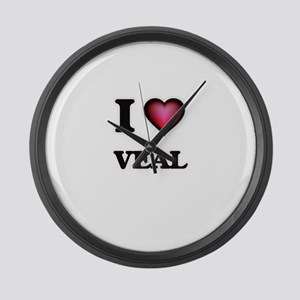I love Veal Large Wall Clock