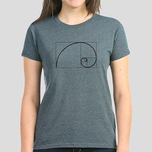 Fibonacci Spiral Women's Dark T-Shirt