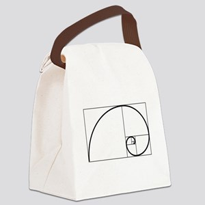 Fibonacci Spiral Canvas Lunch Bag