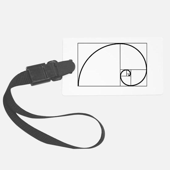 Fibonacci Spiral Luggage Tag
