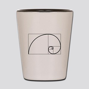 Fibonacci Spiral Shot Glass