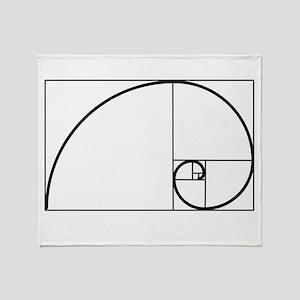 Fibonacci Spiral Throw Blanket