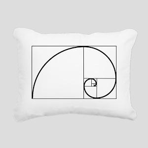 Fibonacci Spiral Rectangular Canvas Pillow