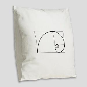 Fibonacci Spiral Burlap Throw Pillow