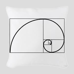 Fibonacci Spiral Woven Throw Pillow