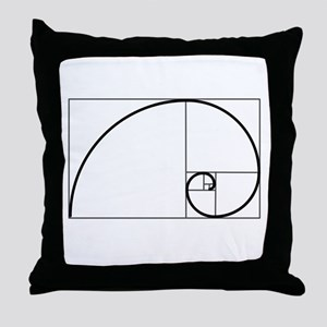 Fibonacci Spiral Throw Pillow