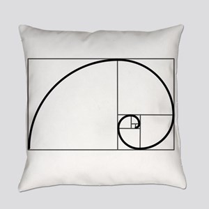 Fibonacci Spiral Everyday Pillow