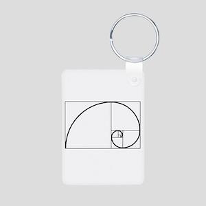 Fibonacci Spiral Aluminum Photo Keychain Keychains