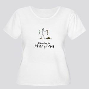 Id rather be herping Plus Size T-Shirt