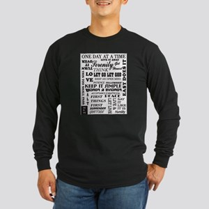 12 STEP SLOGANS Long Sleeve T-Shirt