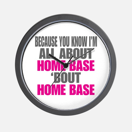 I'm All About Home Base Wall Clock
