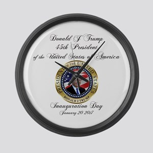 PRESIDENT TRUMP INAUGURATION | Ge Large Wall Clock
