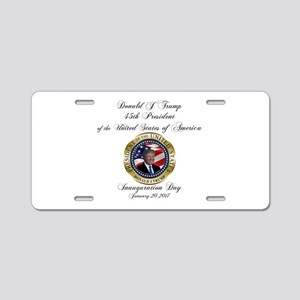 PRESIDENT TRUMP INAUGURATIO Aluminum License Plate