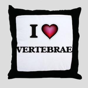 I love Vertebrae Throw Pillow